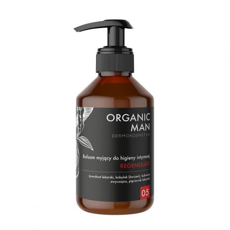Balsam myjący do higieny intymnej regenerujący Organic Man
